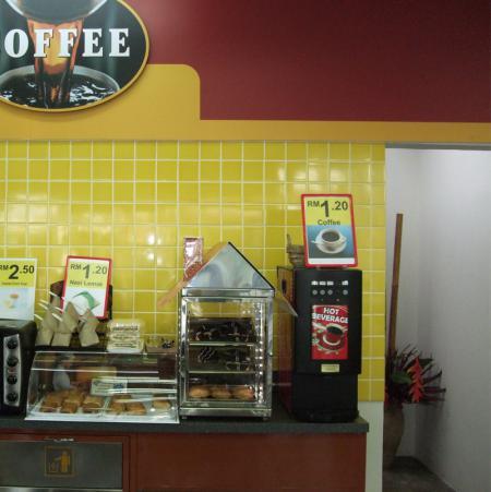 咖啡机在便利店